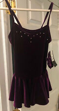 Chloe Noel Figure Skating Dress Purple Child XLarge NWT