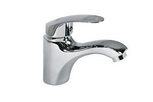 Rubinetto miscelatore bagno silver cromato lavabo lavandino lega metallica