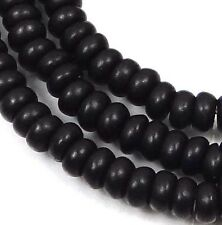 "4x2mm Turquoise Rondelle Beads 16""  - Black Jet"