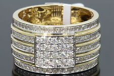 10K YELLOW GOLD 1.18 CARAT MENS REAL DIAMOND ENGAGEMENT WEDDING PINKY RING BAND