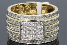 10K YELLOW GOLD 1.18 CARAT MENS REAL DIAMOND ENGAGEMENT WEDDING PINKY RING BAND