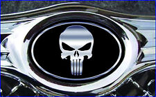 Chysler 300 C 2005-2010 Overlay STICKERS-DECALS Punisher Black/Chrome 3PC Kit!