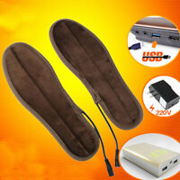GI- USB Electric Heated Shoe Insole Warm Sock Feet Heater Foot Winter Warmer Pad