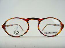 Ovale Brillenfassung Brille Kunststoff bunte Hornoptik niedriger Preis NEU Gr. M