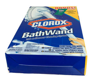 Clorox Bath Wand Disposable Tub & Shower Cleaning System New