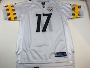 PITTSBURGH STEELERS #17 MIKE WALLACE SIZE YOUTH XL 18-20 REEBOK JERSEY