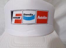 FRAM Bendix Autolite White Mesh Snapback Trucker Style Hat