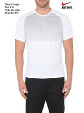 931abd9fcbdb NIKE Men s Large Dri-Fit SHORT SLEEVE Sport CORE CITY GRAPHICS T-Shirt White