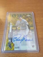 2020 Topps Chrome Danny Mendick RC Gold Wave Refractor Auto #19/50 White Sox
