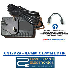 """Compatible With Logik 7"""" 9"""" & 10"""" Portable DVD Home Charger AC Adapter 12V PLUG"""
