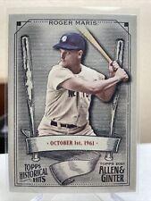 2021 Topps Allen & Ginter Historic Hits #HH-20 Roger Maris - New York Yankees
