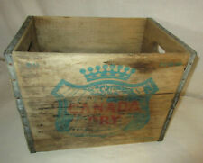 Vintage Canada Dry Wood Wooden Case Box FC-12-58