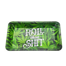 18cm*12.5cm Leaves Metal Roller Rolling Tray Tobacco Smoke Accessories