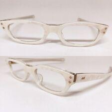 Vintage Eyeglasses, White Eyeglasses Vintage 1950s Eyeglass Frames Nos Deadstock