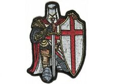 "(B48) RED CRUSADER KNIGHT 2.5"" x 3.5"" iron on patch (6025) Knights Templar"
