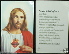 OLD BLESSED SACRED HEART OF JESUS HOLY CARD NOVENA ANDACHTSBILD SANTINI    CC907
