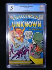 Challengers of the Unknown #1      CGC Graded .5    Brittle Pages    Jack Kirby