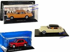 Prize of 3 model Cars CITROEN DS19 PEUGEOT 205 GTI 1989 SIMCA 1301S collectibles