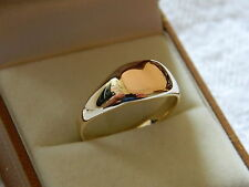 Clogau 9ct Yellow & Rose Welsh Gold Mens Signet Ring RRP £550.00 size S