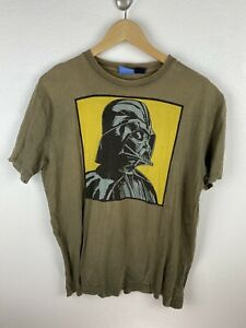 Vintage Star Wars Darth Vader Mens T Shirt Size L Crew Neck 00s Brown Adult
