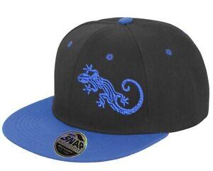 Gecko Black and Blue Snap Back cap Hat