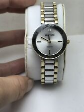 WOMEN'S ARMITRON ANALOG DRESS WATCH TWO TONE BAND DIAMOND DIAL 75/5374SVTT-HW