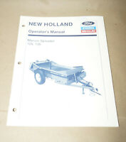 1991 Ford New Holland Manure Spreader 125 135 Operators Manual P/N 42013520
