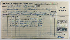 The Quaker Oats Company Vintage Drop Shipment Order Form  Billhead NY 1911