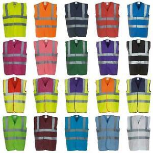 Yoko Reflective Hi-Vis Safety Waistcoat Jacket Hi-Viz Vest Unisex S to 6XL