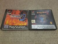 Battle Arena Toshinden 1 and 3 Sony Playstation 1 PS1 Complete AU Release