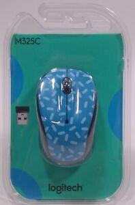 New in Original Pkg - Logitech Wireless Mouse Item M325C - Memphis Blue