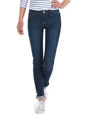 Damen Jeans Hose normaler Bund Damenjeans regular waist stretch blau Neu 34/XS