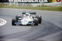 DIDIER PIRONI TYRRELL 008 35MM SLIDE BRANDS HATCH BRITISH GRAND PRIX 1978 F1