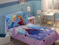 Disney FROZEN Anna+Elsa TODDLER BED SET Quilt + Sheets Girls Crib Room Comforter