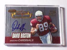 1999 Bowman's Best Rookie Locker Room Autograph David Boston Cardinals Dolphins
