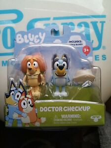 """Bluey & Friends Indy2 Pack 2.5"""" Articulated Figures """"Doctor Checkup"""" 2021 HTF"""