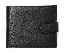 Men's Leather RFID Blocking Wallet Slim Bifold Style Zip Coin Pocket Purse BB37