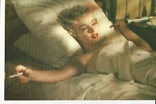 BEAUTIFUL MARILYN MONROE 11 X17 HIGH GLOSS MOVIE COLOR POSTER  SMOKING IN BED