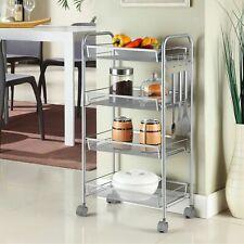 Küchenwagen Küchentrolley Servierwagen Rollwagen Beistellwagen 4 Etagen Metall