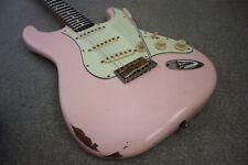 Custom Vintage 60's Relic Shell Pink Stratocaster Guitar Fender Deluxe Hard Case