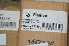 "FLAMCO 27220 MANOMETER 1/2"" 80MM 3 BAR VENTIL 1/4"" RAD NEU"