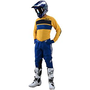 Troy Lee Designs Gear Combo Set TLD MX Motocross GP Pants Jersey BLUE YELLOW
