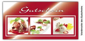 Geschenkgutscheine Gutscheinkarten Geschenkkarten Branchen Eiscafé EI-11002