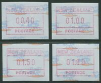 NEW ZEALAND: SEA PLANE FRAMA LABELS 1990 - MNH SET OF FOUR (BL301)