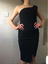 Bastyan Black One  Shoulder Dress Size 10 Bbwt Rep£165