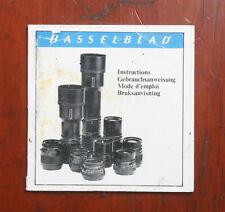 Hasselblad Lenses Instruction Book/163453
