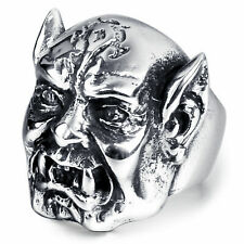 Men's World of Warcraft Horde Orc Troll Band Stainless Steel 316L Ring Size 11