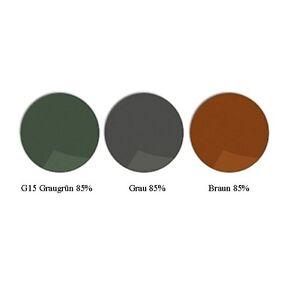 2 Brillengläser 1,5 getönt  grau braun G15 85% mit optischer Sehstärke
