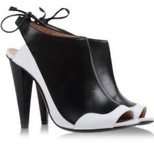 Roland Mouret Black And White Ankle Boots Uk6.5