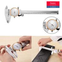 Uhrenmessschieber Messschieber Schieblehre mit Rundskala Uhr 150 mm / 0,02 mm
